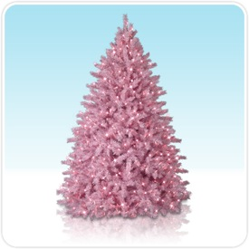 Encore Color Pre-Lit Christmas Tree in Pink