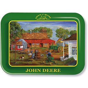 Wash Day John Deere Metal Tray