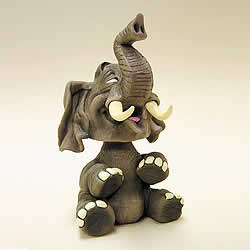 Elephant Bobblehead Animal Figurine