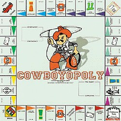 Cowboyopoly Oklahoma State University Opoly Board Game