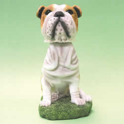 Bulldog Bobblehead Dog Statue