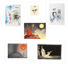 The Nightmare Before Christmas Giclees in Case