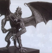 """Lord of the Rings Balrog Small 16"""" wide Fine Pewter Figure"""