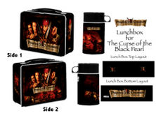 Pirates of the Caribbean Curse of the Black Pearl Lunchbox with Drink Container