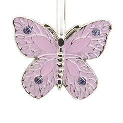 Finders Key Purse Pink Butterfly Key Finder