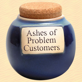 Tumbleweed Ashes of Problem Customers Classic Word Jar