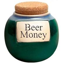 Tumbleweed Beer Money Classic Word Jar
