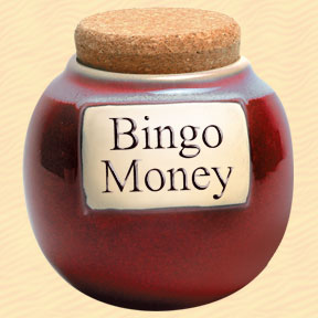 Bingo Money Classic Word Jar