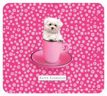 Keith Kimberlin Maltese Puppy Mousepad