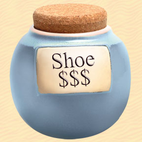 Tumbleweed Shoe $$$ Classic Word Jar