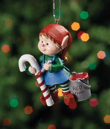 Painting Candy Cane Jingle Elves Ornament