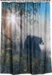 """Shadow in the Mist"" Bear Shower Curtain"
