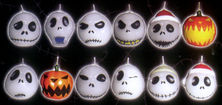 "The Nightmare Before Christmas 2"" Jack Head Candle Set"