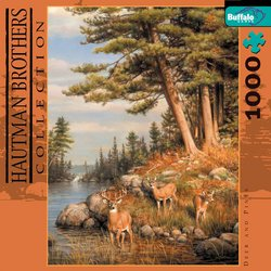Deer and Pines Hautman Brothers Collection 1000 Piece Jigsaw Puzzle