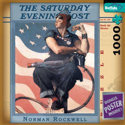 Norman Rockwell Rosie the Riveter - The Saturday Evening Post 1000 Piece Jigsaw Puzzle