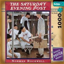 Norman Rockwell The Rookie - The Saturday Evening Post 1000 Piece Jigsaw Puzzle