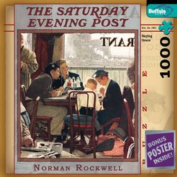 Norman Rockwell Saying Grace - The Saturday Evening Post 1000 Piece Jigsaw Puzzle