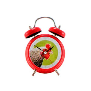 Present Time Rooster Sound Alarm Clock