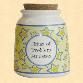 Tumbleweed Ashes of Problem Students Designer Word Jar
