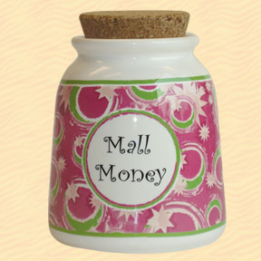 Tumbleweed Mall Money Designer Word Jar