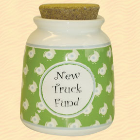 Tumbleweed New Truck Fund Designer Word Jar