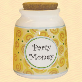 Tumbleweed Party Money Designer Word Jar