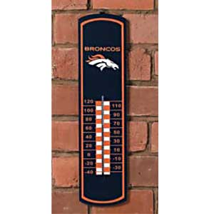 Denver Broncos NFL Large Wall Thermometer