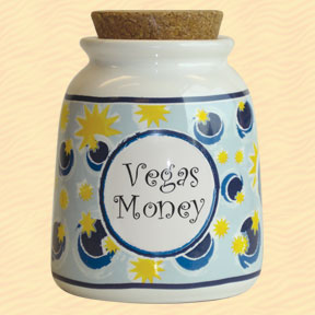 Tumbleweed Vegas Money Designer Word Jar