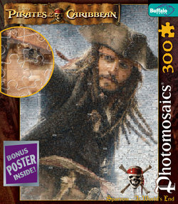 "Jack ""At World's End"" Pirates of the Caribbean 300 Piece Photomosaic Puzzle"