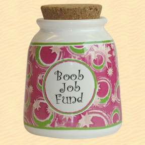Tumbleweed Boob Job Fund Designer Word Jar