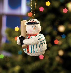 Baseball Player Snowberry Cuties Ornament