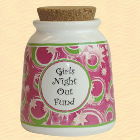 Tumbleweed Girl's Night Out Fund Designer Word Jar