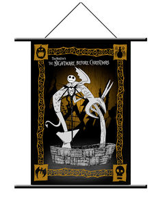 The Nightmare Before Christmas Jack and Fountain Wall Scroll