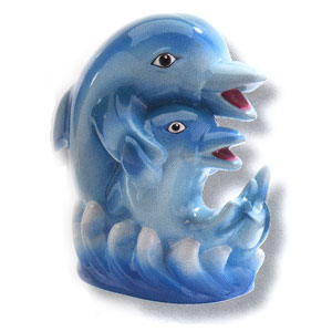 Waxcessories Save a Hug Dolphins Ceramic Bank