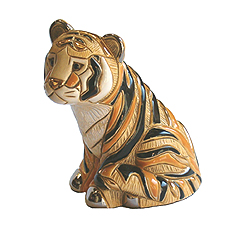 Tiger Sitting # 803A Artesania Rinconada Silver Anniversary Collection