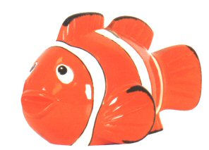 Waxcessories Ceramic Clown Fish Bank