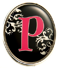 """P"" Monogrammed Key Finder - Finders Key Purse"