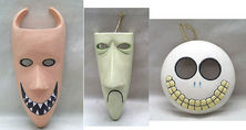 The Nightmare Before Christmas Lock, Shock & Barrel Decorative Wall Mask Set