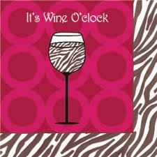 Wine O'Clock Beverage Napkins