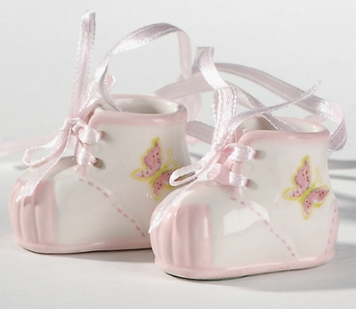 Baby Girl Booties<br>Hanging Ornament