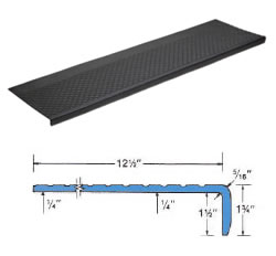 #RST5- 633 Outdoor Recycled Rubber Stair Tread