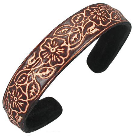 Trendy Celeb Leather Cuff - Sioux   (DISCONTINUED)