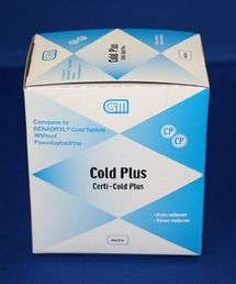 Cold Plus Tablets 50pk / 100 Tablets