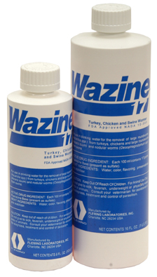 Piperazine 17% Liquid Wormer 8 oz.