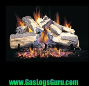 "Burnt Split Oak 18"" Vented Logs w/G4 Burner"