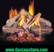 "Charred Red Oak 18"" Logs Vented w/G4 Burner"