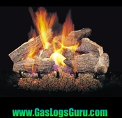 "Charred Rugged Split Oak 18"" Vented Logs w/G4 Burner"