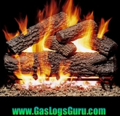 "Post Oak Classic Series 18"" Vented Logs w/G4 Burner"