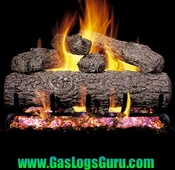 "Golden Oak Classic Series 18"" Vented Logs w/G4 Burner"
