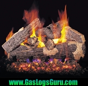 "Rugged Split Oak 18"" Vented Logs w/ G4 Burner"